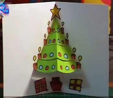 los troquelados resultan muy efectivos en las tarjetas de navidad por su aspecto tridimensional y aportan