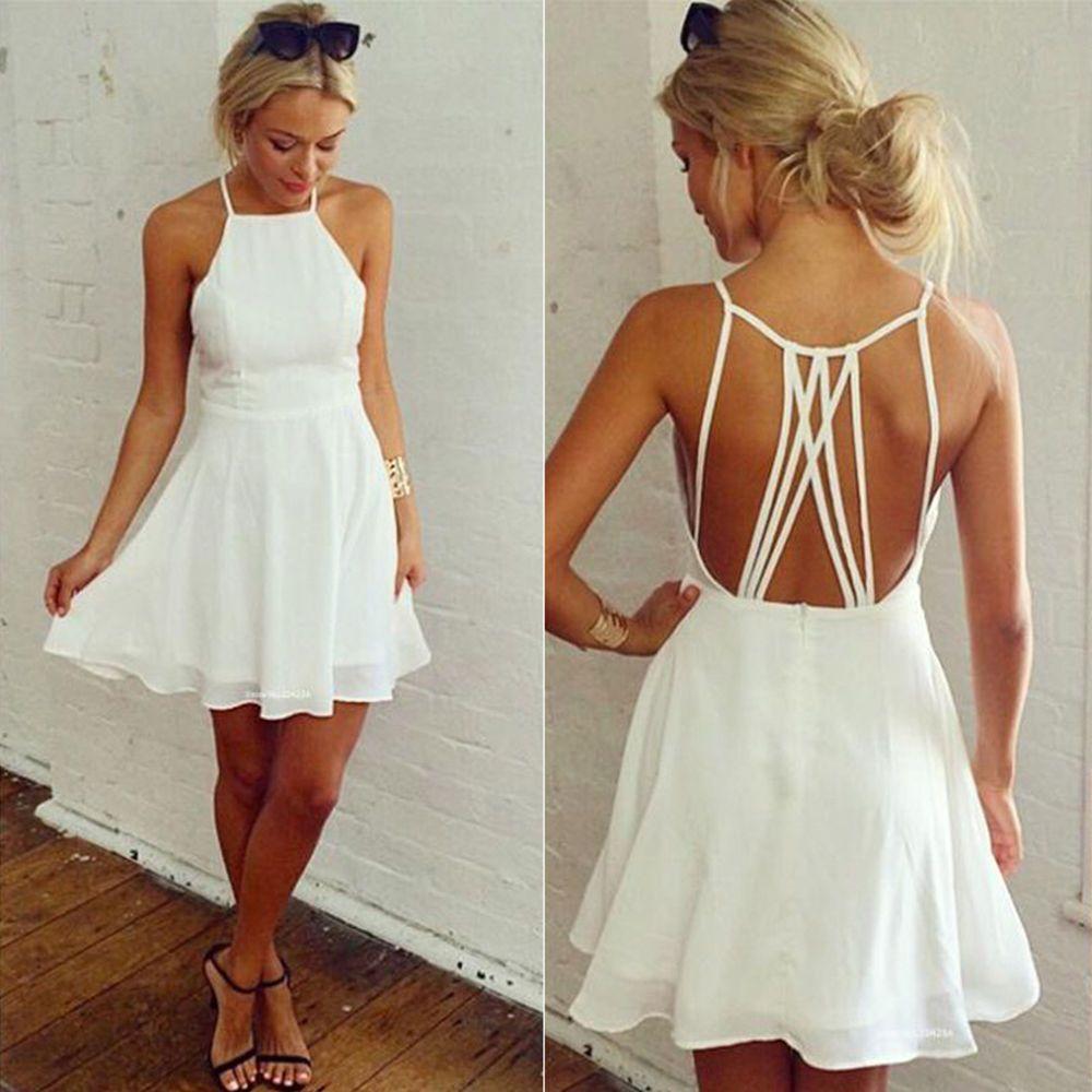 Details zu Damen Sommerkleid Partykleid Abendkleider Strandkleid ...
