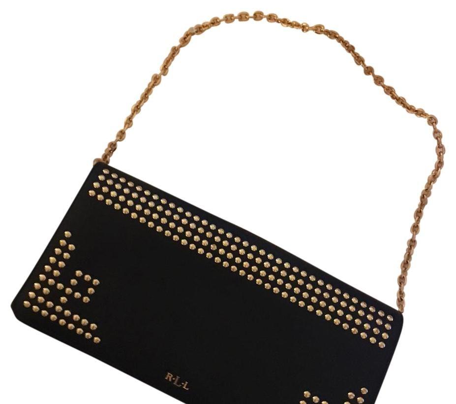 Ralph Lauren Newbury Stud Clutch Shoulder Bag 61% off retail
