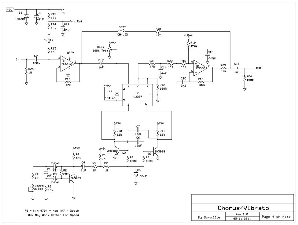 Flanger Guitar Effect Diagrams Wiring Library Pedale Fx56b Diagram Recommendations Cheep Easy Diy Chorus Effects Pedals Computer