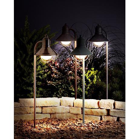 Kichler Olde Brick Low Voltage Landscape Lantern   #53612 | Lamps Plus