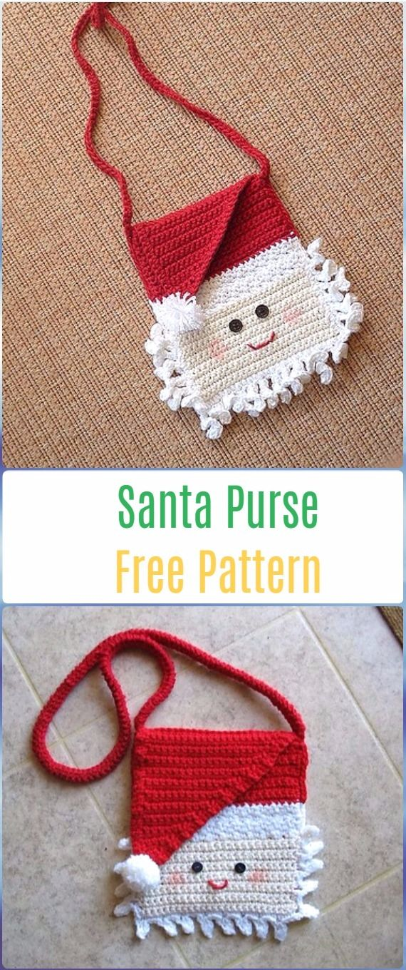 Crochet Santa Clause Ideas and Projects Free Patterns | Carteras en ...