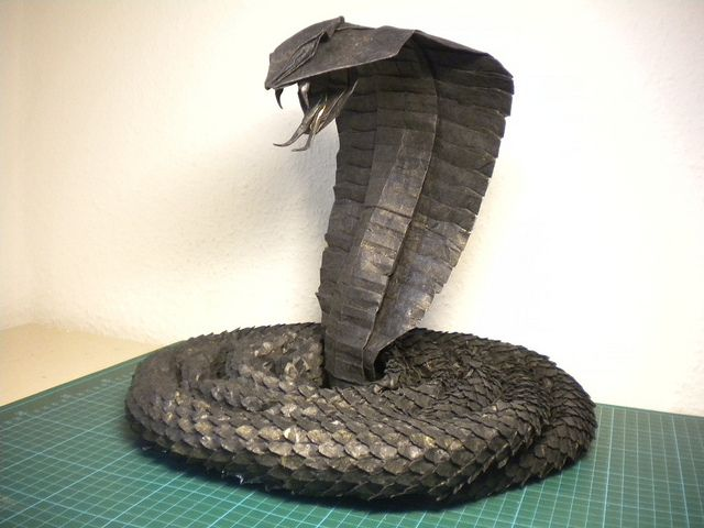 King Cobra by Origami T-My, via Flickr