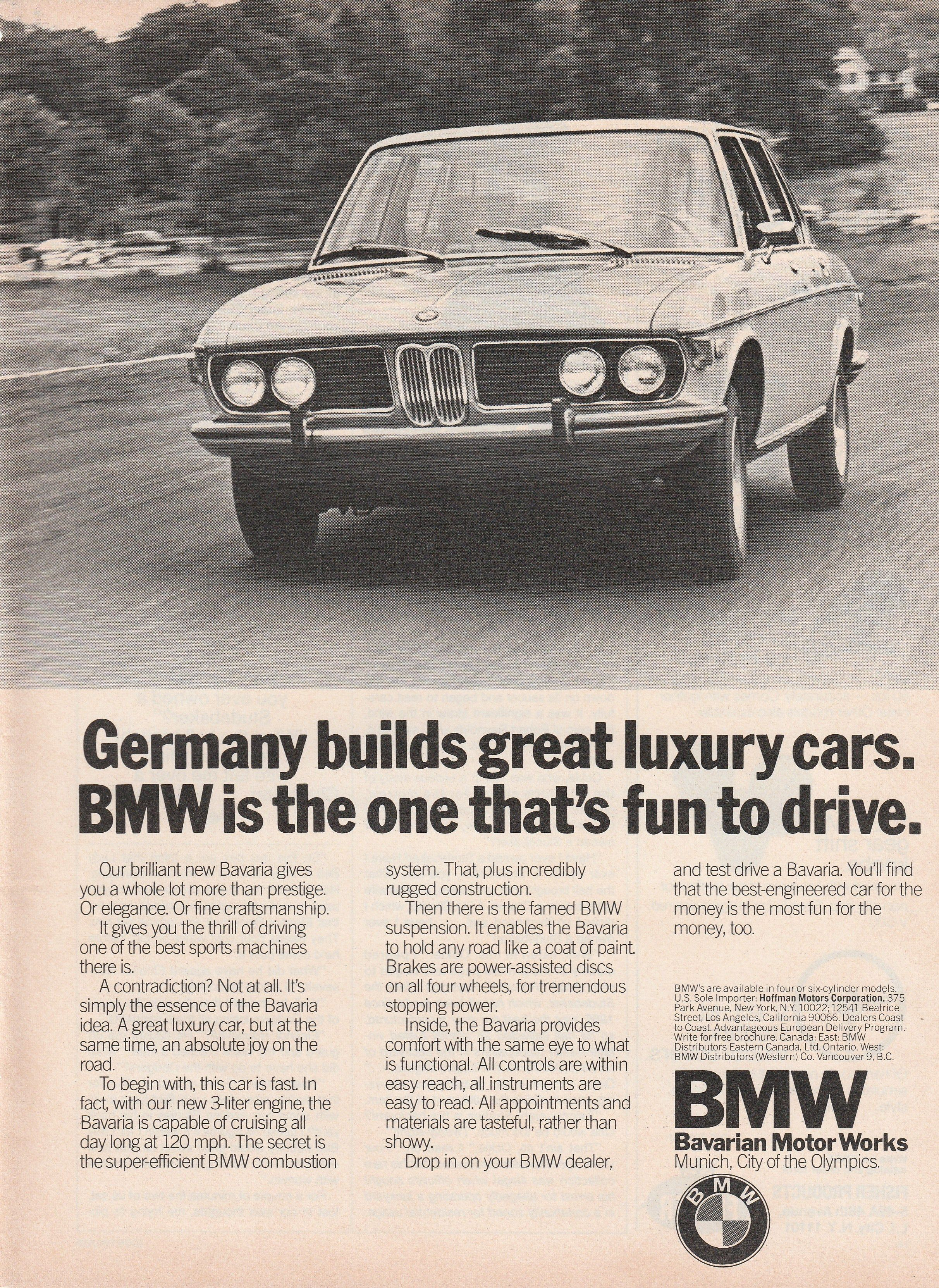 1969 1975 BMW the one that s fun to drive vintage ad