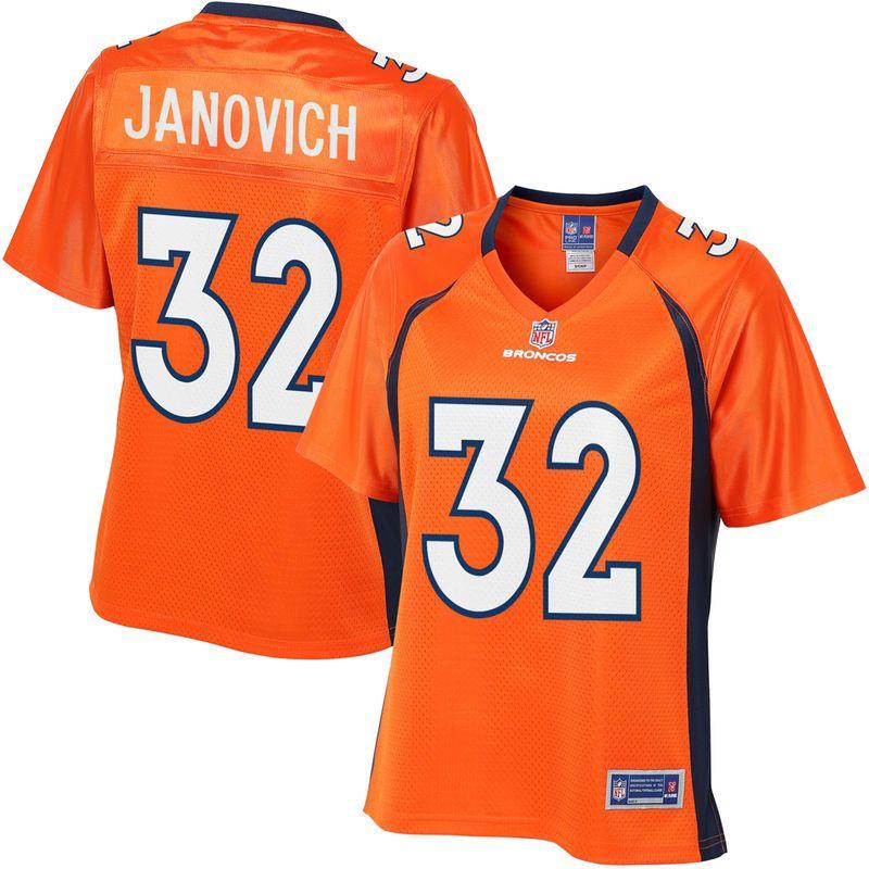 04ebdf09f Andy Janovich Denver Broncos NFL Pro Line Women's Player Jersey - Orange