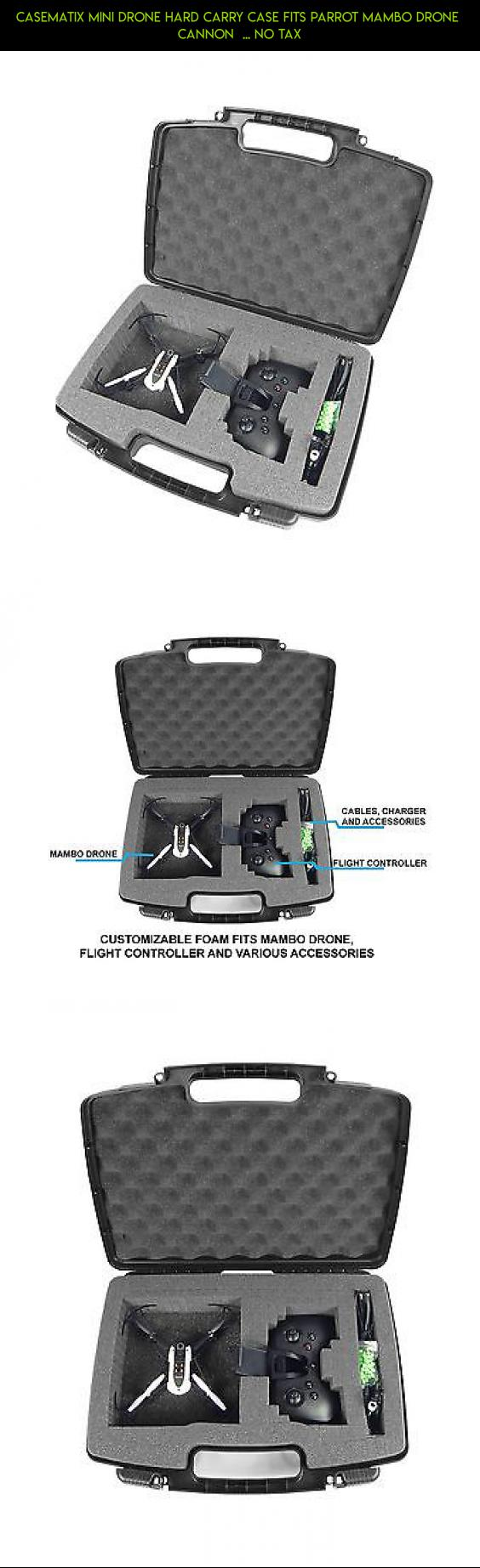 CASEMATIX Mini Drone Hard Carry Case Fits Parrot Mambo Cannon NO TAX