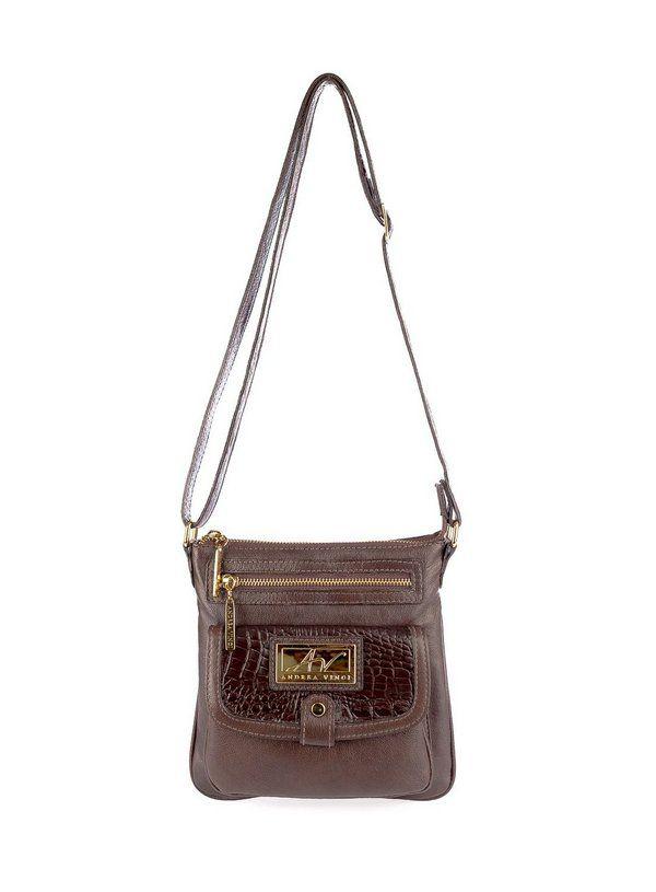 96a38abf3 Bolsa Pequena Tiracolo Anny em couro legítimo café | mochilas ...