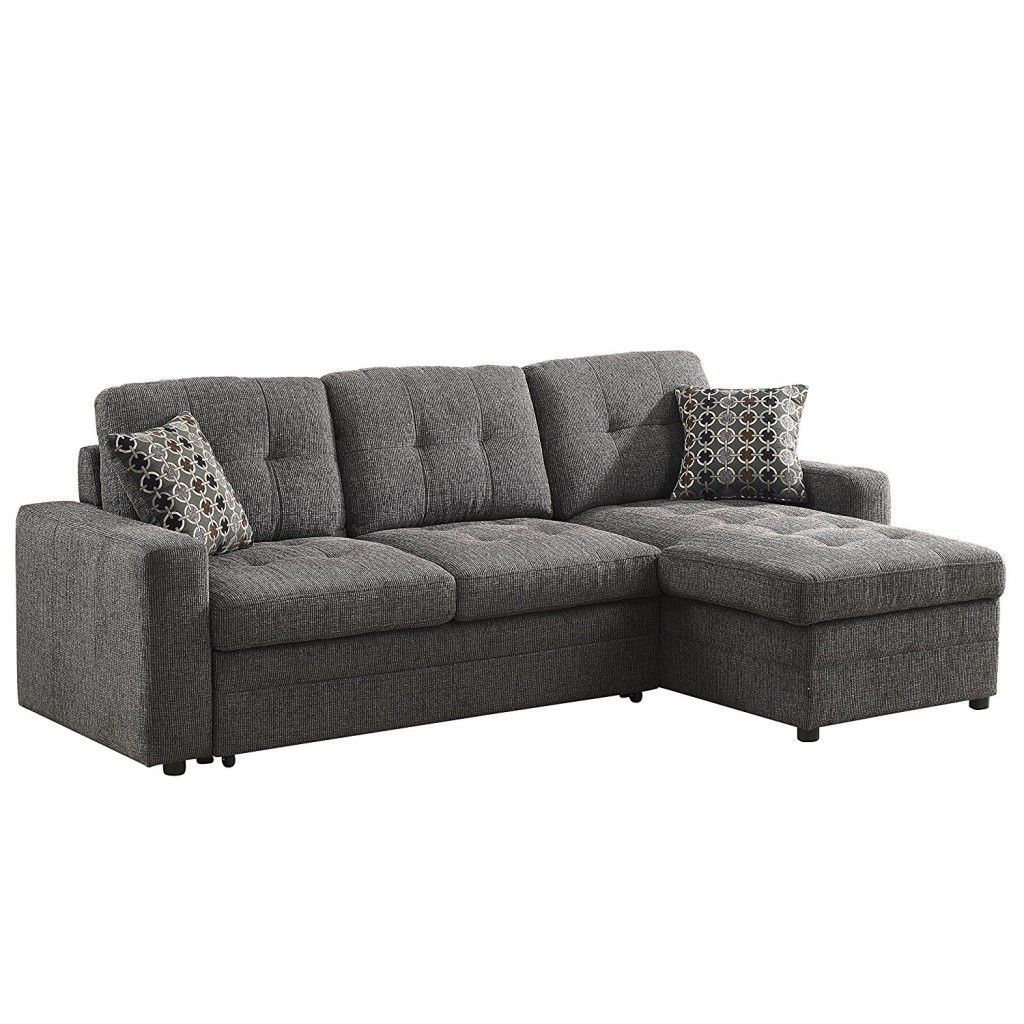 L Shaped Pull Out Couch Sectional Sleeper Sofa Small Sectional