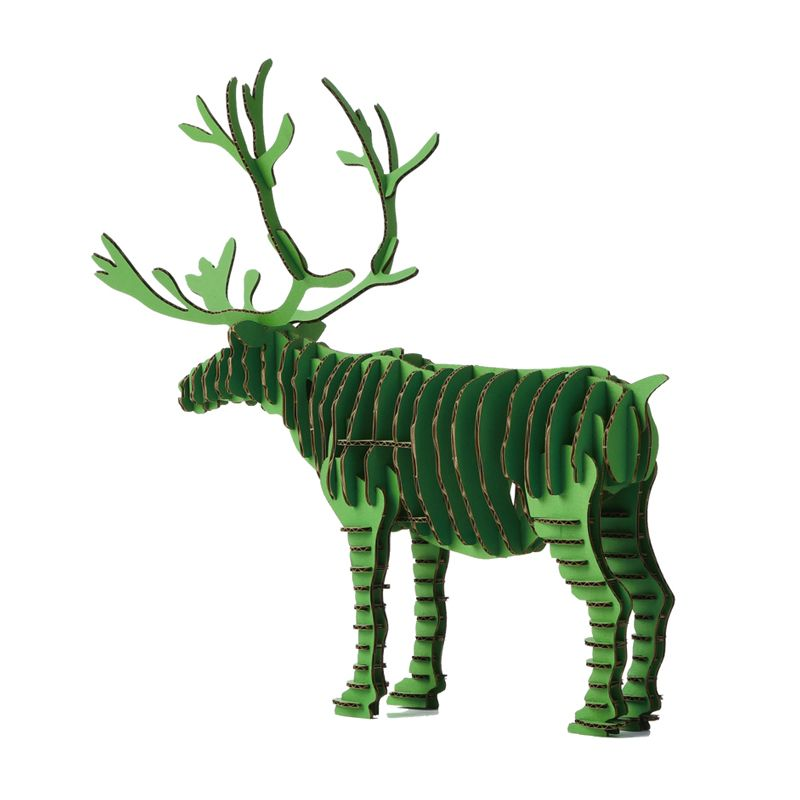 3d puzzle deer christmas reindeer decoration toy craft for Dog crafts for adults