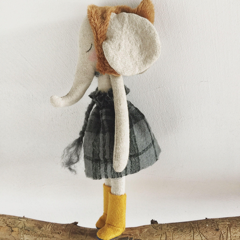 Sweet little elephant girl by PeanutAndElliott Toys