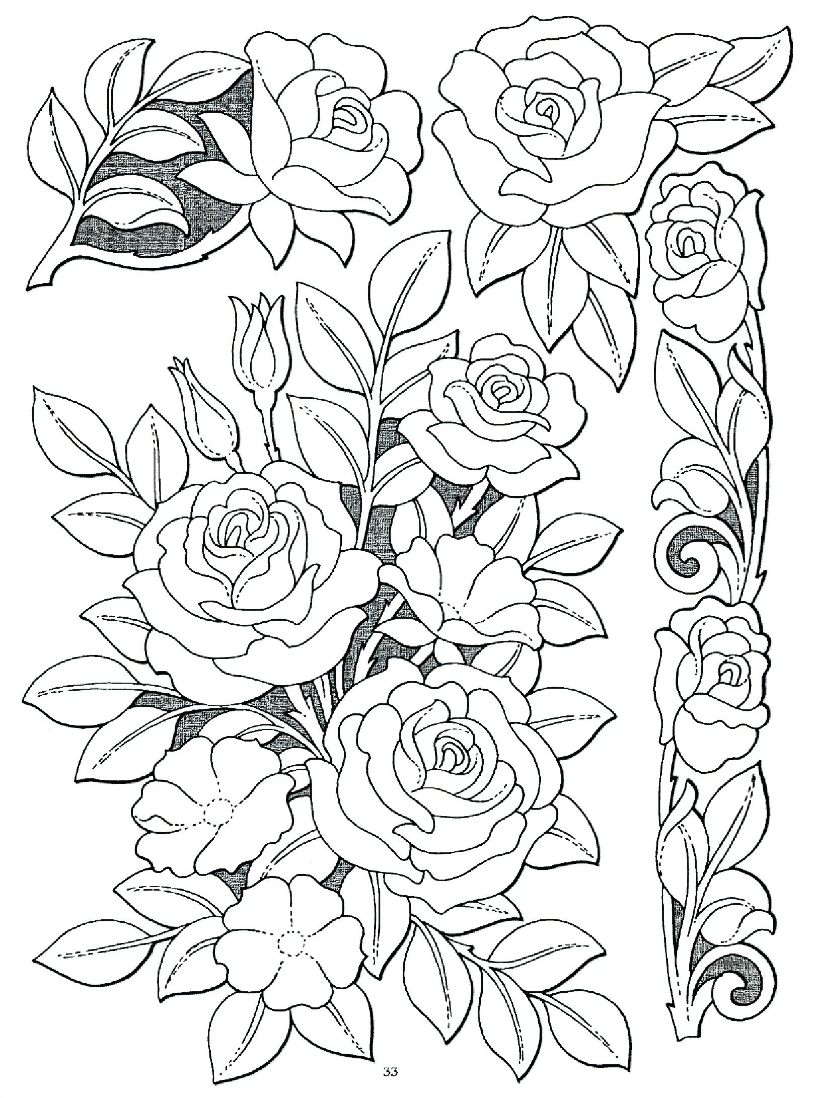 Roses Richelieu idee Leather Pattern Leather Tooling Patterns Flower Coloring Pages Ribbon Embroidery