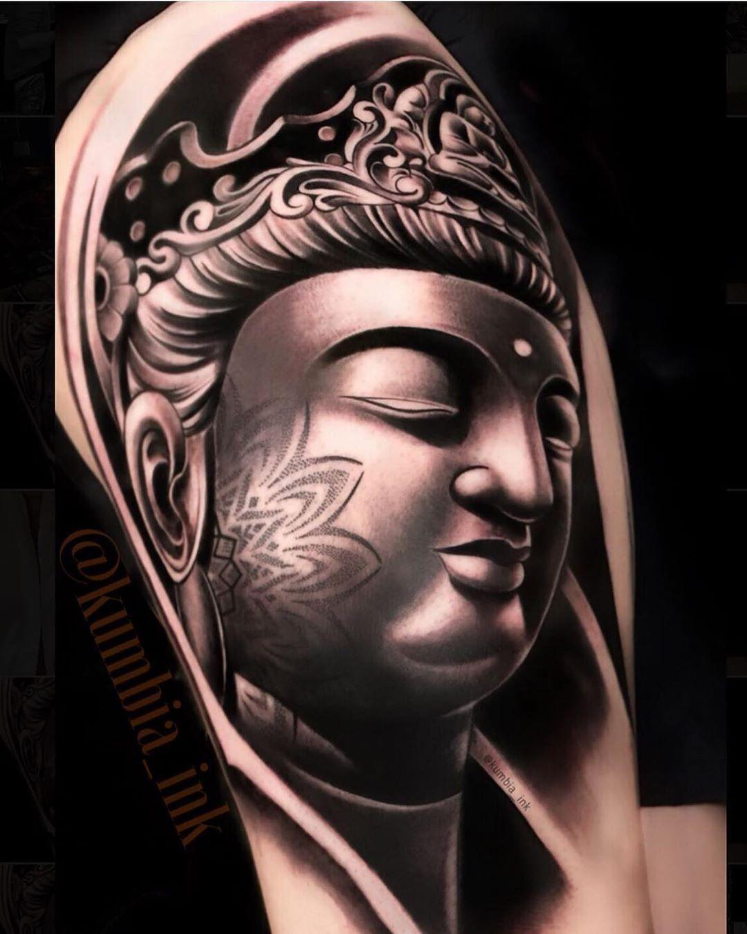 Bayarea Tattoo 9dragonsink On Instagram Buddha Kumbia Ink Portrait Tattoo Sleeve Black And Grey Sleeve Tattoos