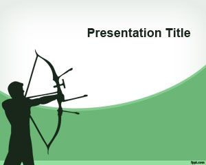 archery powerpoint template is another free olympics sport