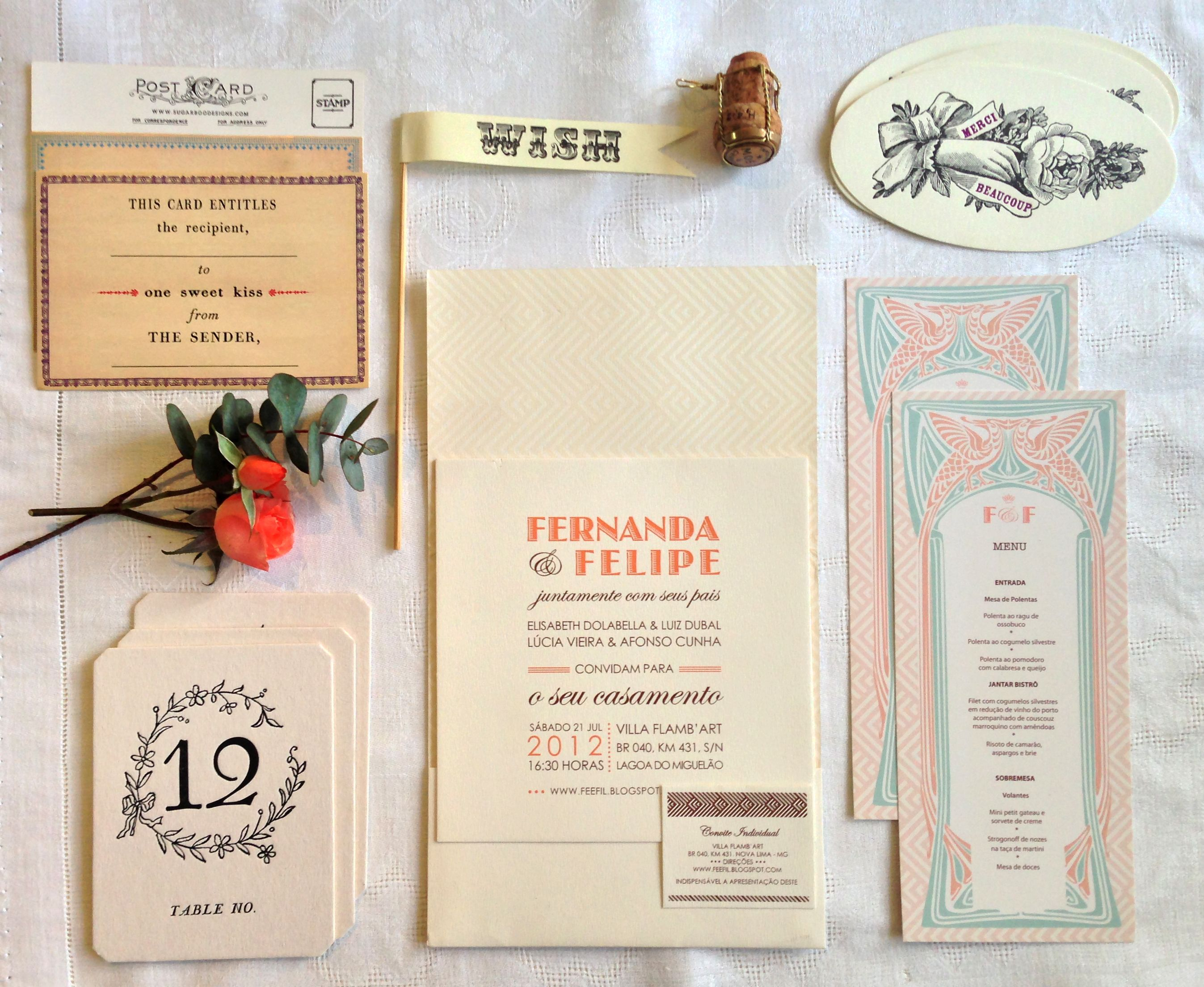 Fernanda Felipe Design Casamentos Pinterest Stationary And