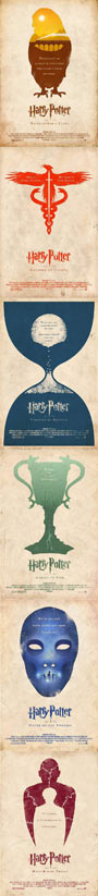 Alternative Poster Versions Of Harry Potter Movies