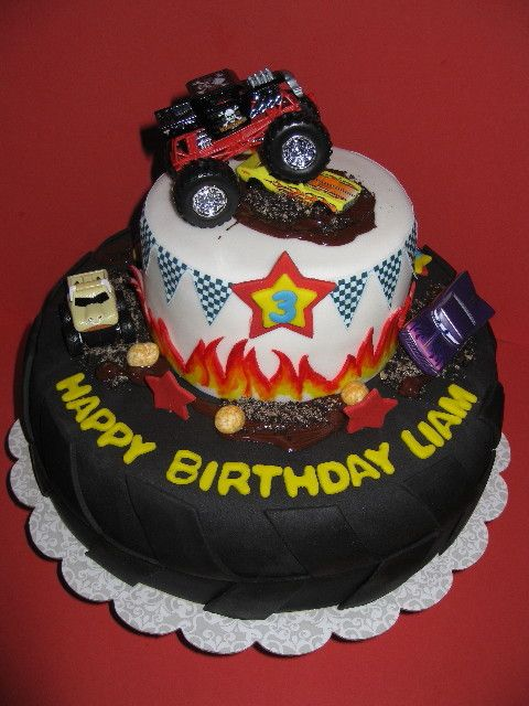 Connies Cakes Monster Truck Birthday Birthday Party Ideas