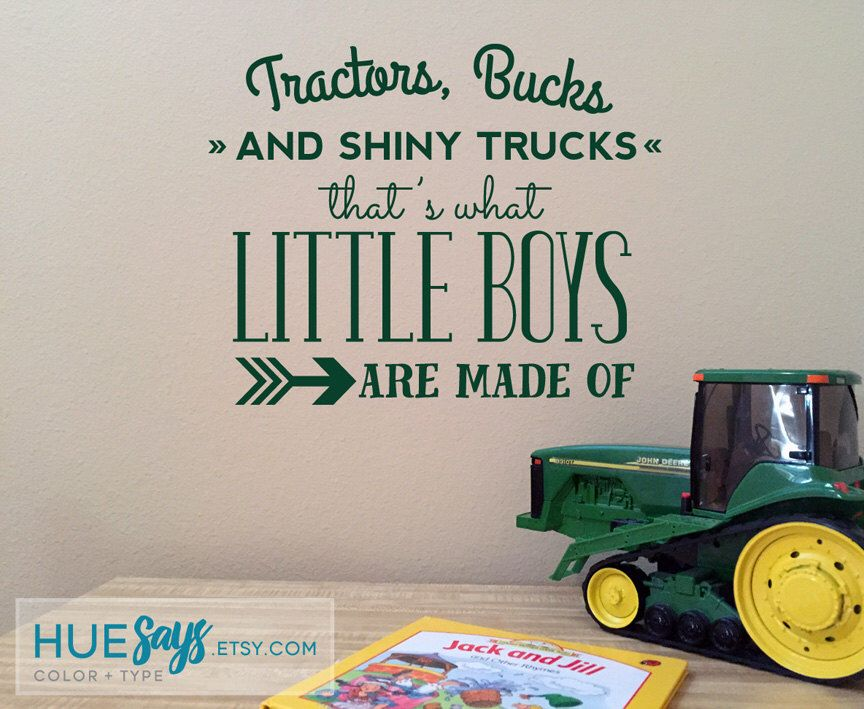 Tractors & Trucks Baby Boy Nursery, Nursery Vinyl, Vinyl Wall Art, Nursery Decor, Nursery Art, Toddler Boy Room