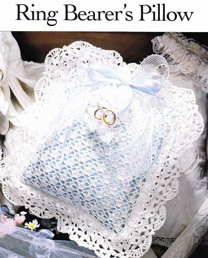 Crochet Pattern RING BEARERS PILLOW Wedding Instructions