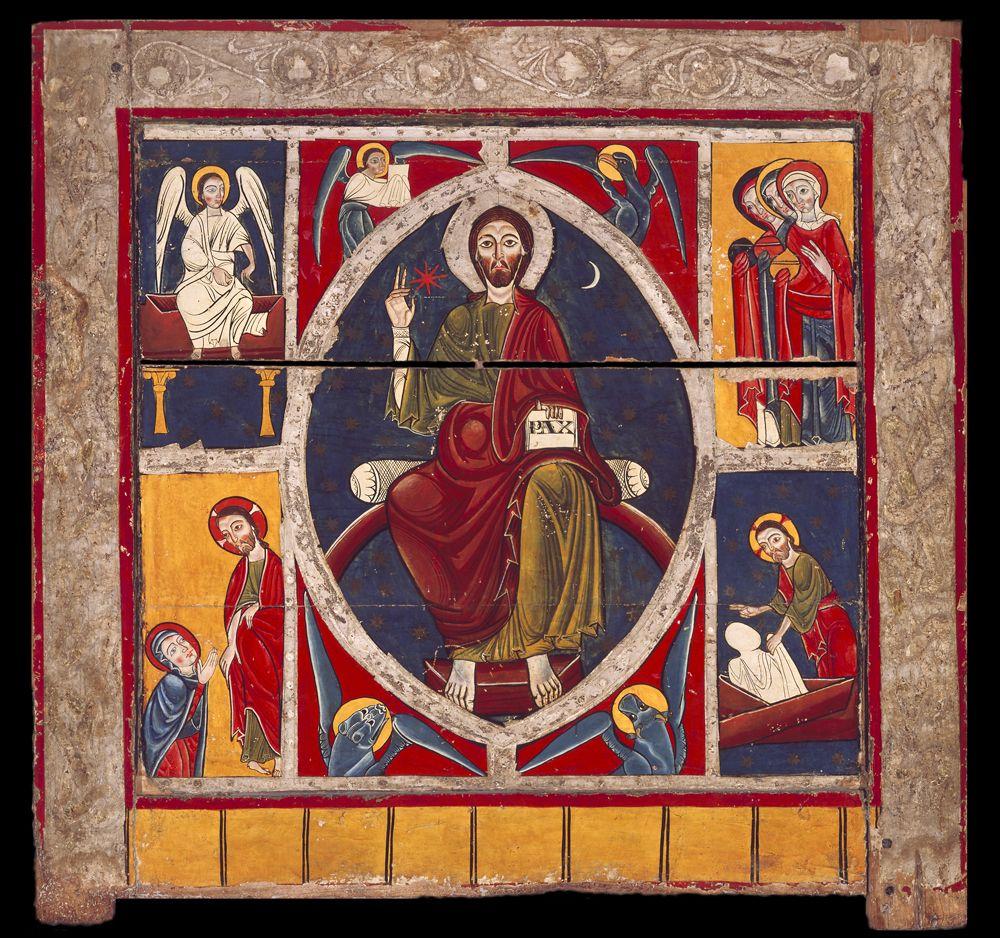 Frontal de Solanllong (Ripoll) Maestro de Lluça Témpera sobre tabla, 102 x 108,3 x 7,5 cm 1200 - 1210