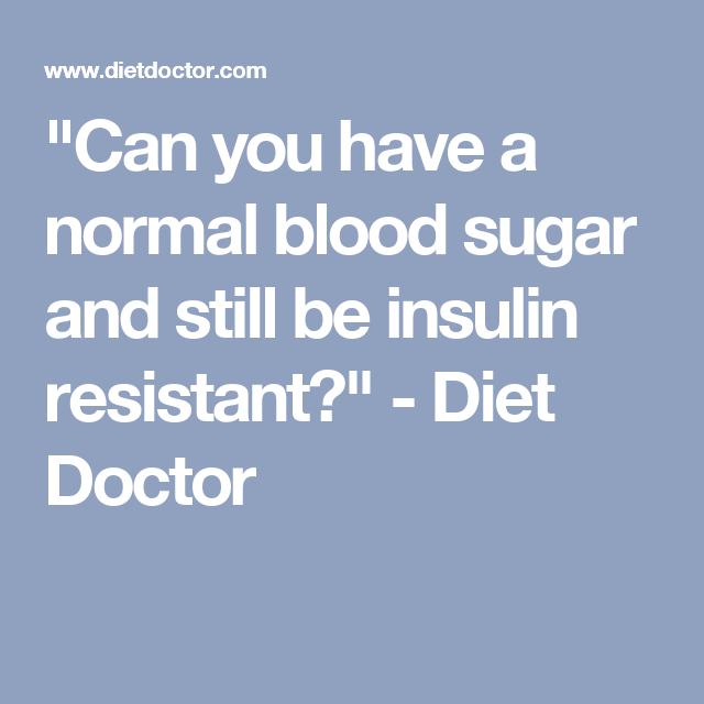 Insulin Level Chart