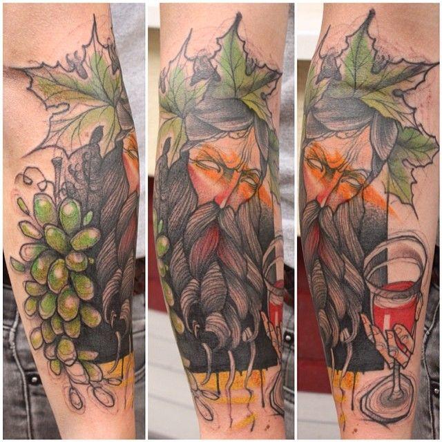 #dionysos #jukan #tattoo #stilbruchtattoo #comic #grapes # ...