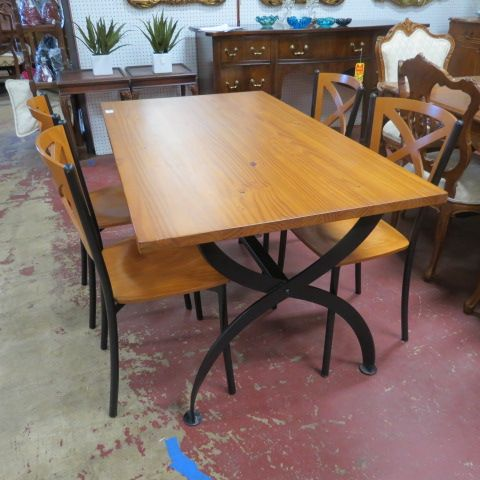 SOLD Vintage mid century modern Italian industrial dining table