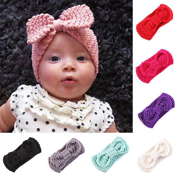 2016 Newborn Baby Crochet Knit Handmade Bowknot Style ...