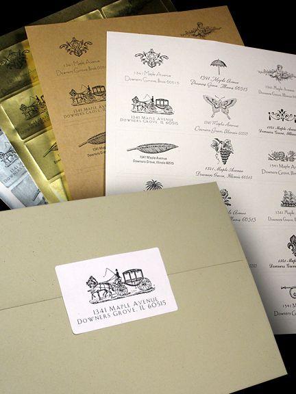 elegant envelope labels seals for wedding invitations invitation