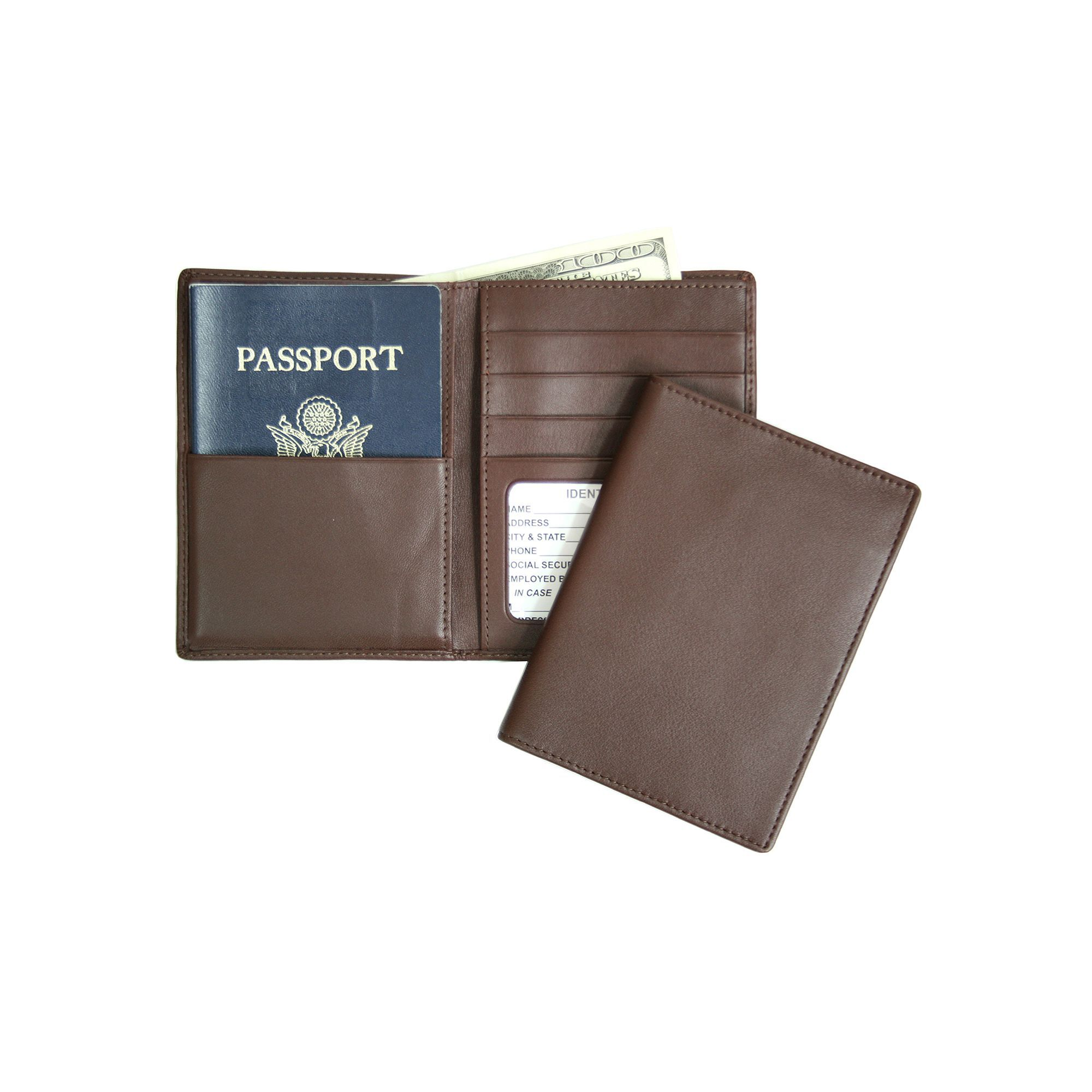 38b80a81bb62 Royce Leather Rfid-Blocking Passport Case and Wallet
