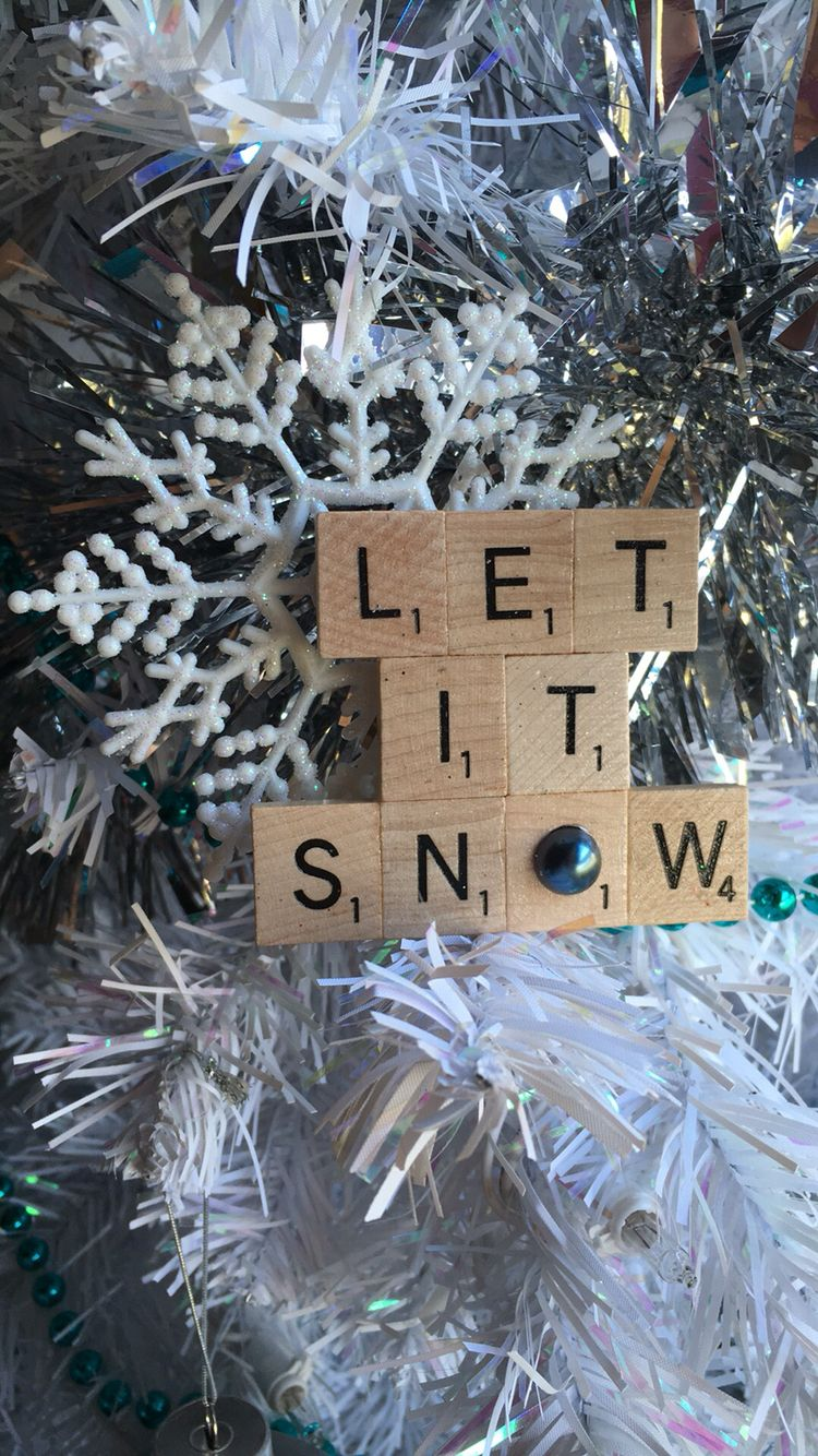 Let it snow  Personalized with your favorite short saying saying