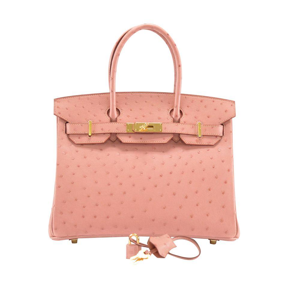 0d2b7fc90461 HERMES Handbag BIRKIN 30 Ostrich TERRE CUITE GOLD Hardware ...