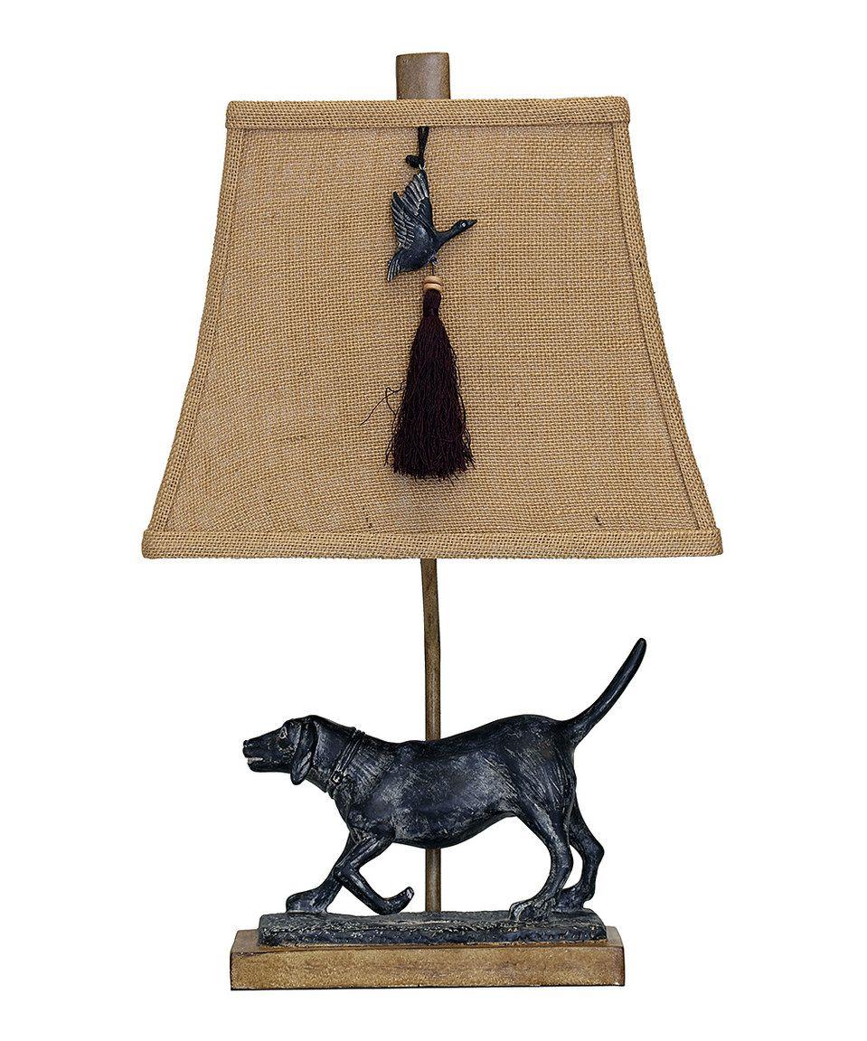 Love this StyleCraft Black Lab & Accent Tassel Table Lamp