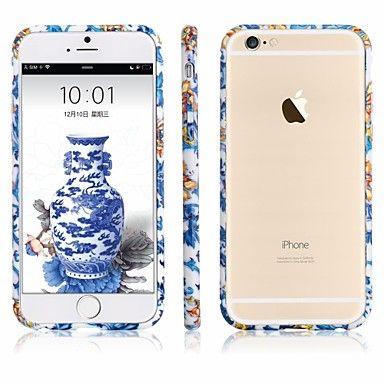 EUR € 11.51 - shengo ™ 0,7 mm ultra-dunne alunimium bumper met speciale ontwerp van blauw en wit porselein voor iPhone 6 (assorti kleur), Gratis Verzending voor alle Gadgets!