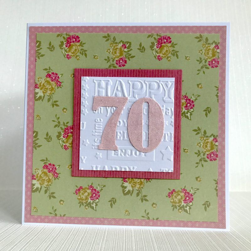 70th Birthday Card Handmade Ready For Delivery