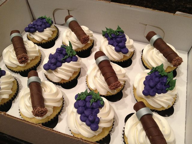 Wine And Cigar Cupcakes Dads Birthday Ideas Cigar