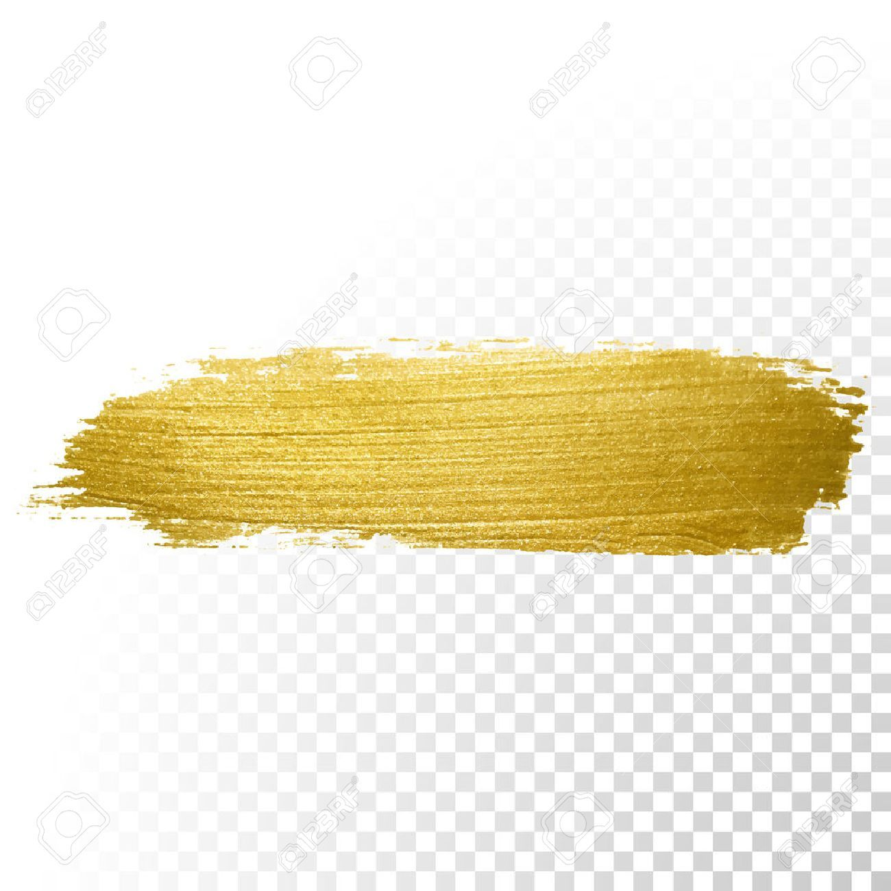 Vector Gold Paint Brush Stroke Abstract Gold Glittering Textured Royalty Free Cliparts Vectors And Stock Illus Paint Brush Art Gold Paint Brush Stroke Png