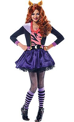 licensed monster high costumes for kids include draculaura clawdeen wolf and other girls halloween costumes of favorite monster high characters - Clawdeen Wolf Halloween Costume