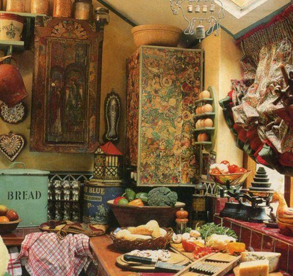 bohemian look bohemian design country kitchens bohemian decor cuisine bohème intérieur on hippie kitchen ideas boho chic id=52195