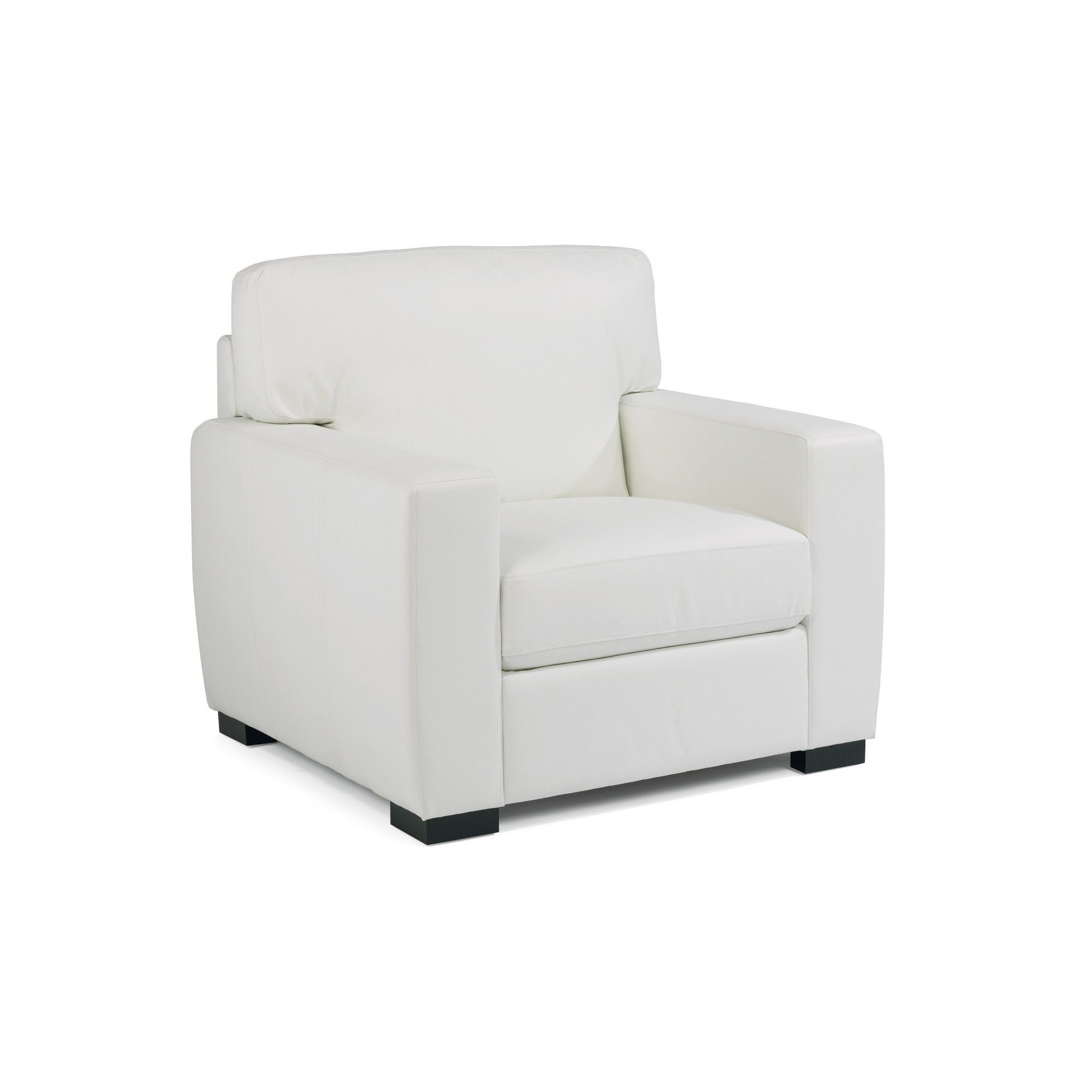 Erin Upholstered Contemporary Chair Ivory Home Styles White