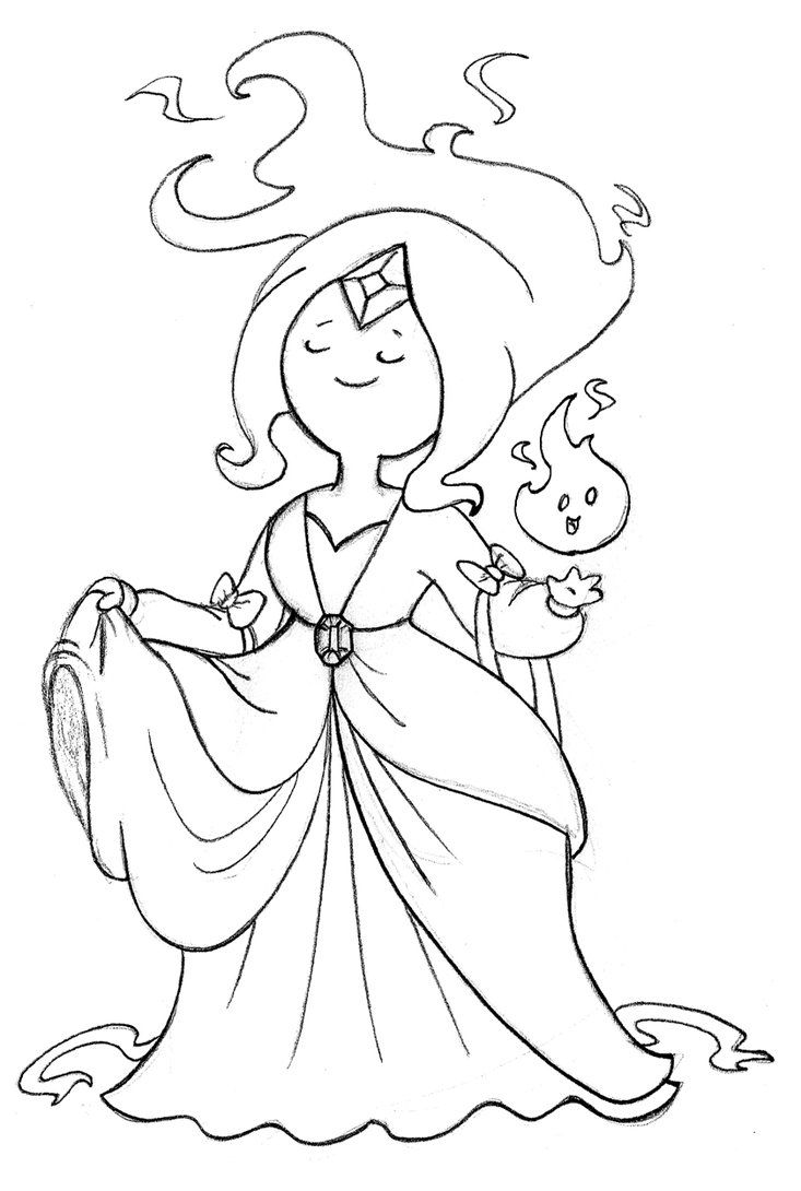 flame princess coloring pages anime - photo#11