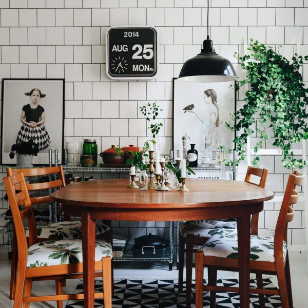 clever and unexpected ways to use subway tiles home decor pinterest esszimmer haus und. Black Bedroom Furniture Sets. Home Design Ideas