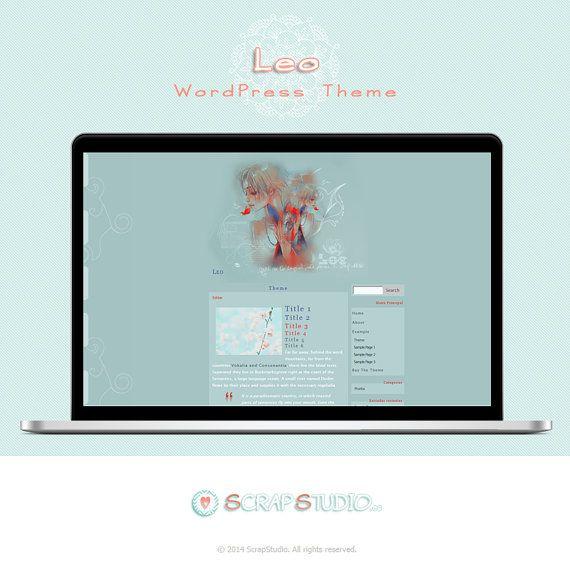 Leo Tema WordPress Diseño Plantilla para Blog por @ScrapStudioES ...