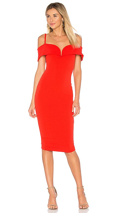 b1c1513ca569a Shop for Nookie Pretty Woman Midi Dress in Cherry at REVOLVE. Free 2 ...