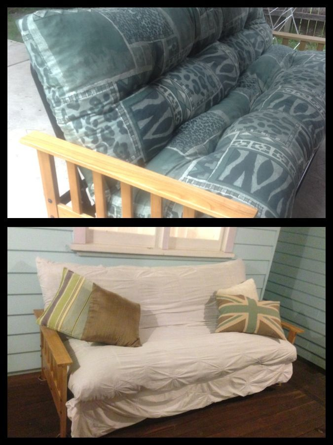 When Ping For A Futon It S Hard To Find One With Nice Fabric On The Pillow Especially Second Hand Transform Any Just Pick Queen Or