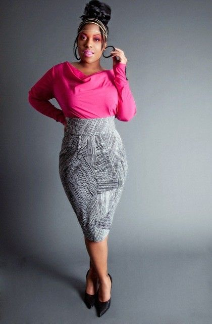 Plus-size pencil skirts | JIBRI Plus Size High Waist Pencil Skirt ...