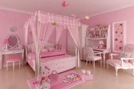 20 Hello Kitty Bedroom Decor Ideas To Make Your Bedroom More Cute Hello Kitty Bedroom Hello Kitty Rooms Girl Bedroom Decor