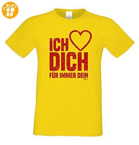 Geburtstagsgeschenk für Ihren Liebsten T-Shirt Geschenkidee Geburtstag Ich liebe  Dich Vatertag Übergröße Liebe Herren Farbe: gelb: Amazon.de: Bekleidung