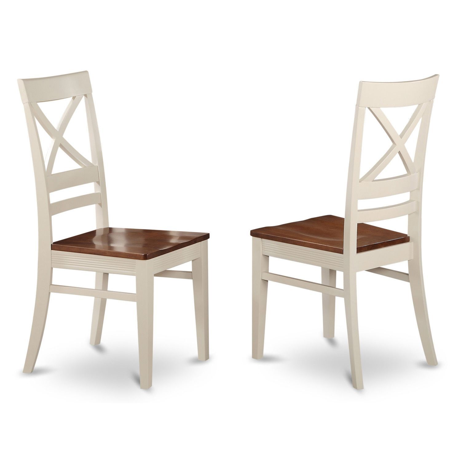 Quincy Wooden Seat X Back Dining Chair Buttermilk Cherry
