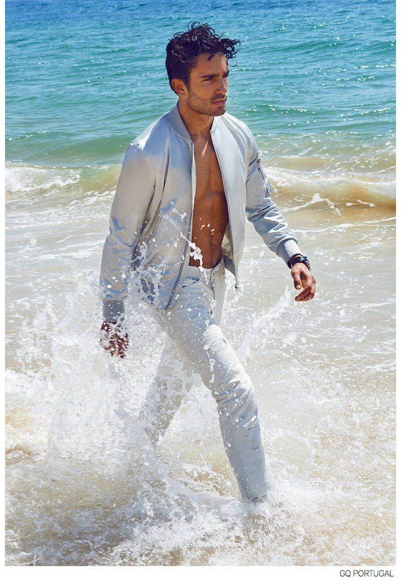 Andre Costa Luxuriates in Summer Fashion Editorial for GQ Portugal image Andre Costa GQ Portugal Fashion Editorial 007