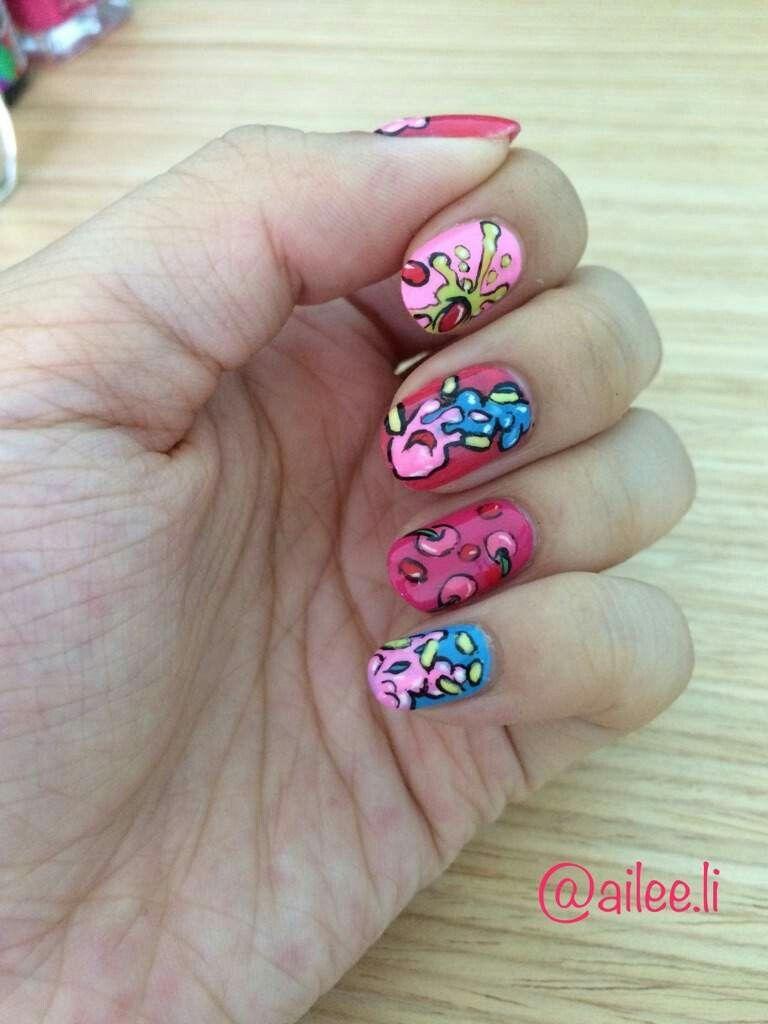 NCT 127 CHERRY BOMB NAIL ART ♡ I luv ittttt | Nails~ | Pinterest ...